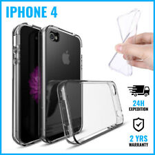 Transparent Cas Clear Hard Case Cover Etui Coque Hoesje For iPhone 4