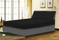 Black 100% COTTON & POLY FITTED BED SHEET SINGLE DOUBLE KING SUPER KING LOT