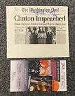 President Bill Clinton Signed 5x6 Impeachment Newspaper Print JSA COA AUTO