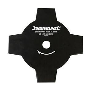 Silverline Brush Cutter Blade 4-Tooth 25.4mm Bore