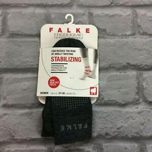 FALKE LADIES UK 4-5 EU 37-38 ERGONOMIC STABILIZING COMPRESSION GREY MERINO SOCKS