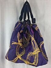 Vera Wang Princess Purple Gold Bag Purse Deluxe Tote Chain Large NEW