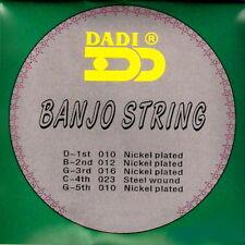 5 String Set of Dadi Nickel Plated Banjo Strings UK (1st class del.)
