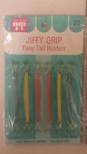 Vintage Ponytail Holders! Jiffy Grip!  Unique old hard to find Items! Nice!