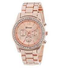 Geneva Classic Wmens Fashion Quartz Watch Ladies Rhinestone Crystal Wrist Watch