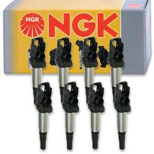 8 pcs NGK Ignition Coil for 2011-2015 BMW 550i xDrive 4.4L V8 - Spark Plug pw