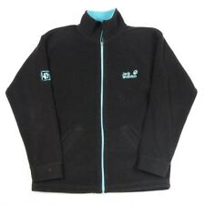 JACK WOLFSKIN Black Fleece Jacket | Womens S | Wind Coat Zip Warm