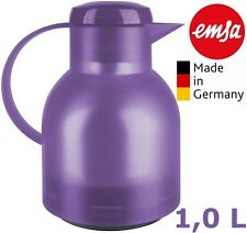 EMSA SAMBA Isolierkanne 505126 Transluzent Lavendel mit Quick Press & Glaskolben