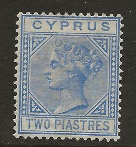 CYPRUS  SG 19  1883 WATERMARK CROWN CA DIE 1 2pi BLUE   FRESH MINT  ORIGINAL GUM