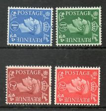 1950 Colour change Definitive sideways watermark SG504a-SG507a Unmounted mint