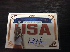 2012 Leaf Legends of Sport Paul Hamm USA Remembering The Games Auto Autograph