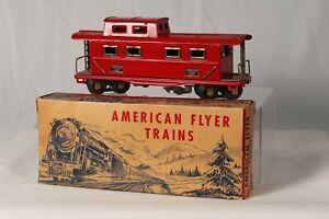 American Flyer O Gauge Caboose 411 Pre-War Original Box