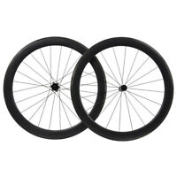 55mm Full Carbon wheelset Clincher Tubeless matt rim brake Road bicycle race 11s