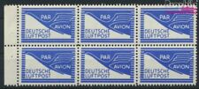 Bizonale (Allied Cast) page de carnet FZ1 neuf 1948 Flugpostzulassg. (9082272