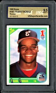 1990 Score Frank Thomas Rookie Card #663 USA 9.5 MINT - Chicago White Sox - HOF