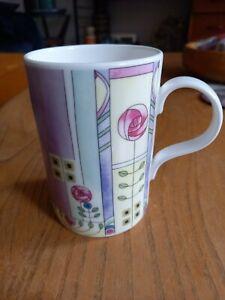 Past Times mug. Glasgow school. rennie mackintosh. bone china