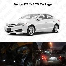 12 x White SMD LED Interior Bulbs + Reverse + Tag Lights For 2013-2016 Arcua ILX