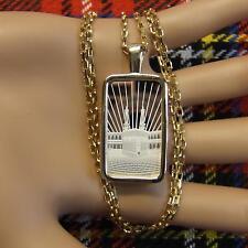 De 9 quilates de oro Nueva Barra del lingote Fe Colgante Y Cadena con diez gramos de plata fina Lingote