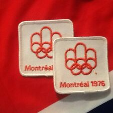 1976 Olympics Jersey Patches (2) Montreal Canadians Winnipeg Jets