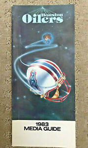 1983 Houston Oilers NFL Football Media Guide with Earl Campbell, Archie Manning