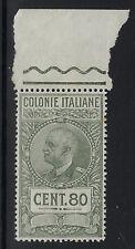 ERITREA (Italian) :1931 REVENUE 80 cents olive  -BAREFOOT 27 MNH
