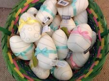 """Hallmark 4.5"""" Colorable Cloth Easter Eggs -NWT- Fun To Color-Lot of 19-$57 value"""