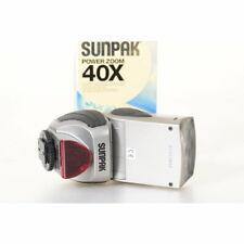 Sunpak PZ40X Power Zoom Blitz 40x für Nikon Kameras / Flash / Blitzgerät SILBER