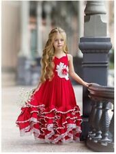 NWT Dollcake A Thousand Words Red Frills Girl Dress sz 7 Party Holiday Special