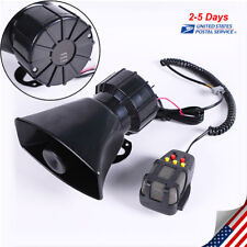 12V Car Horns Motorcycle 5 Sound Siren Megaphone Loud Speaker Warning Alarm 100W
