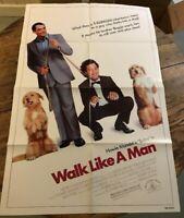 "WALK LIKE A MAN 1987 COMEDY onesheet movie poster 27""X47"" HOWIE MANDEL"