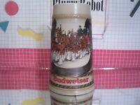 Ceramarte Budweiser Anheuser-Busch Clydesdales Collectible Stein Mug