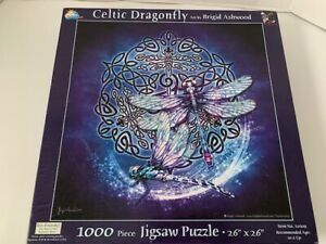 Celtic Dragonfly Art by Brigid Ashwood 1000 Piece Puzzle Pre-Owned Complete