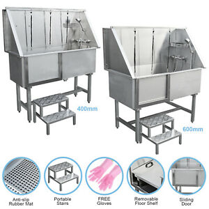 Dog Grooming Bath Stainless Steel Pet Washing Station Professional Shower Tub