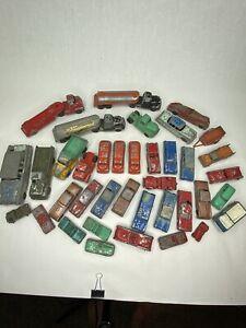 Vintage Huge Lot Of Tootsie Toy Metal Cars Trucks Trailers Original Unrestored