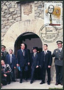 ANDORRA (2020) President Jacques Chirac Copríncep blason coat arms Maximum card