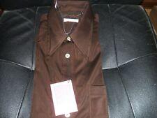New listing Vintage 70s Qiana 100% Nylon Shirt Brown Long Sleeve Button Down Sz L Nwt Disco