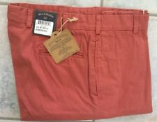 NWT-Bills Khakis Red M24-WRPB Plain Weathered Red POPLIN Size 38X34 $165