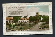 "Birthday Card - Church - ""Light Your Future Way"". Stamp/Postmark - 1927"