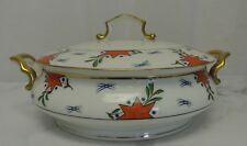 Vintage Epiag  czechoslovakia Porcelain Casserole Dish with Lid
