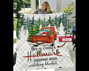 Customized This Is My Hallmark Christmas Movie Watching Fleece Blanket Gifts