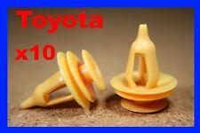 10 Toyota Presión Tipo Puerta Remaches Adorno Coche Plástico Cierre 71d