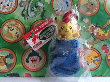 Pokemon Plush Pikachu Bell Santa Stocking 2000 Tomy Christmas Xmas Doll Ornament