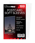 (100 Count Pack) Ultra Pro Postcard Standard Size Sleeves For Archival Acid Free