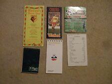 fixture card premier league 97/8 chelsea whu spurs wimbledon liverpool man utd