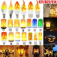 E27 B22 E14 LED Fackel Feuer Lampe Flammen Effekt Glühbirne Flacker Birne Dekor