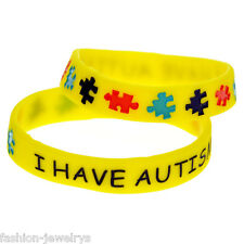 1Pc I Have AUTISM Wristbands Alert Medical ID Silicone Bracelet Emergency Supply