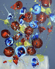 "Cynthia Ligeros Abstract Mixed Media Painting ""Full of Daring"""