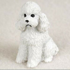 POODLE WHITE (Sport Cut) TINY ONES DOG Figurine Statue pet lovers gift resin