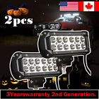 2x 7inch 36w CREE LED Work Light Bar Flood Offroad Driving Bumper SUV Truck Jeep