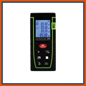 Laser Distance Meter Measurer 40M Area Volume Rangefinder Pythagore Tape Meter
